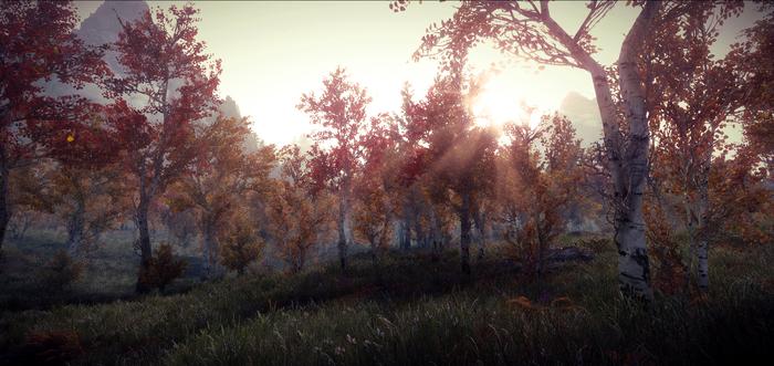 Начало дня в Скайриме The Elder Scrolls V: Skyrim, Игры, Красота