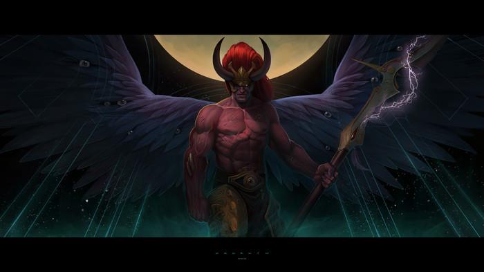 Магнус Magnus The Red, Примархи, Chaos Space marines, Chaos Daemons, Wh Art, Warhammer 40k, Ilya Ozornin