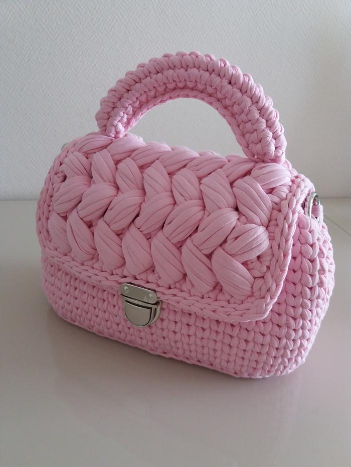 """Запчасти"" собраны, сумочка готова) Рукоделие, Рукоделие без процесса, Вязаные сумки, Подарок девушке, Розовая сумочка, Длиннопост"