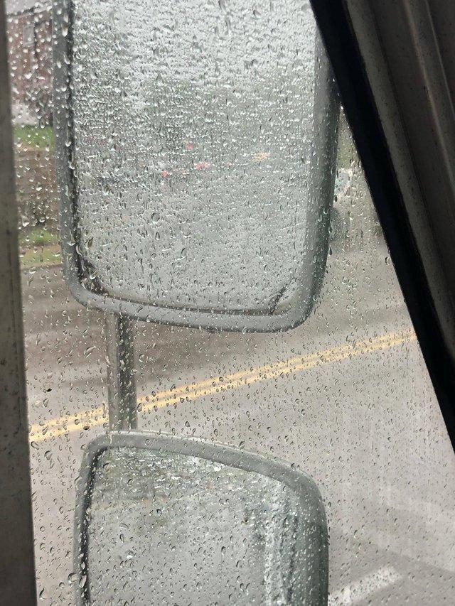 Включи фары Зеркало заднего вида, Грузовик, Дождь, Включи фары, Безопасность на дорогах