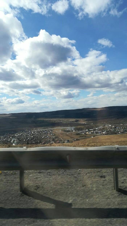 Вид из окна Облака, Вид из машины, Сим