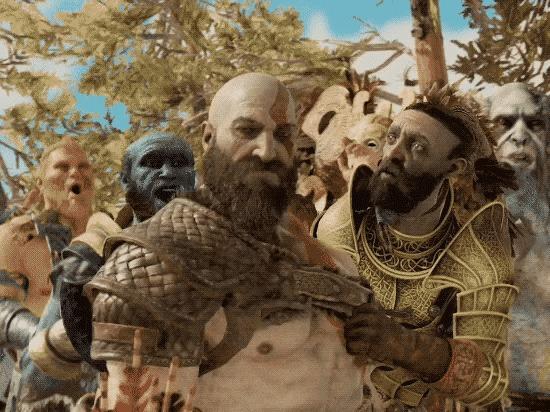 На тему известной гифки God of War, Мемы, Гифка