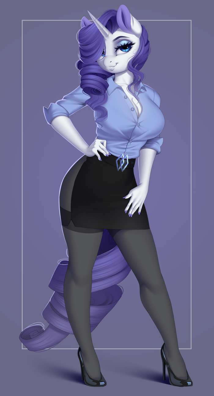Business Casual My Little Pony, Rarity, Антро, Evehly