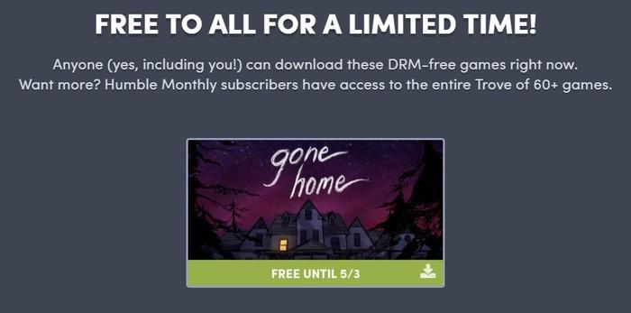Бесплатная Gone Home на Humble Bundle Humble Bundle, Не Steam, Халява