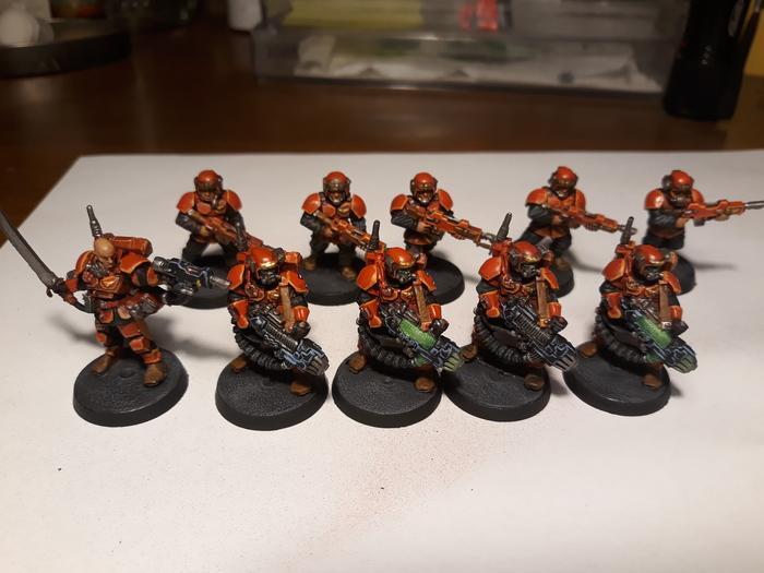 Команда для Kill Team товарищу Warhammer 40k, Kill Team, Имперская гвардия, Wh miniatures, Длиннопост