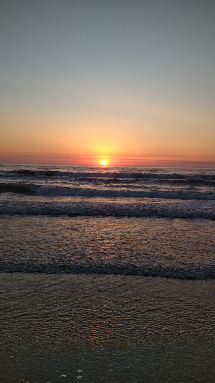 Рассвет на Каспии. Каспийское море, Рассвет, Утро, Лепота, Длиннопост