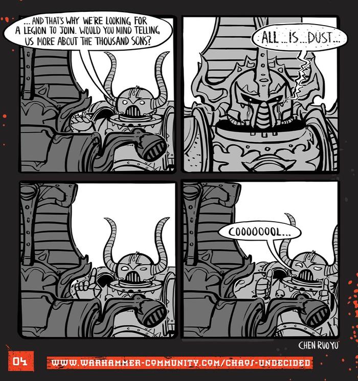 Хаос неопределённый #04 Warhammer 40k, Wh humor, Ruo Yu Chen, Комиксы, Chaos Space marines, Chaos-Undecided, Thousand Sons
