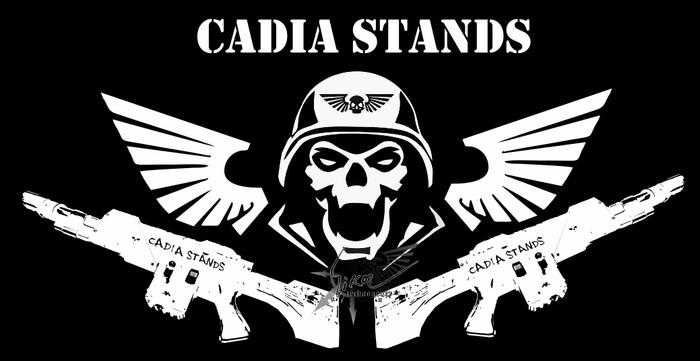 """Принт """"Кадия Стоит"""" Кадия стоит!, Warhammer 40k, Warhammer, Cadia, Vk_technogenez, Имперская гвардия, Wh Art"""
