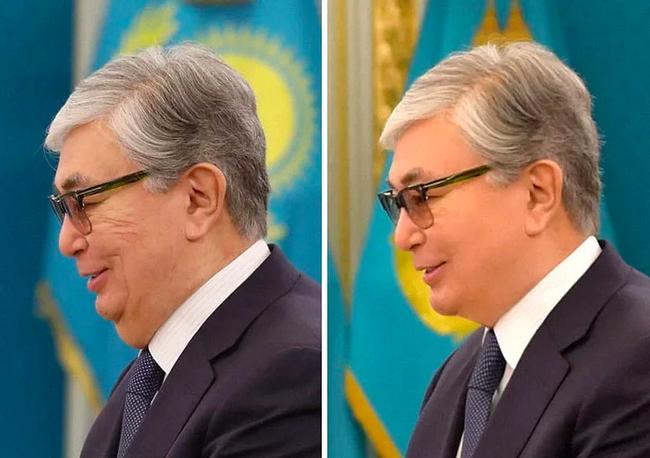 Президент Казахстана: ожидания и реальность (отфотошопленная) Казахстан, Photoshop, Касым-Жомарт Токаев, Нурсултан