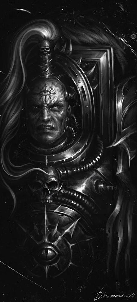 Abaddon the Despoiler Warhammer 40k, Abaddon, D1sarmon1a, Wh Art, Арт, Рисунок