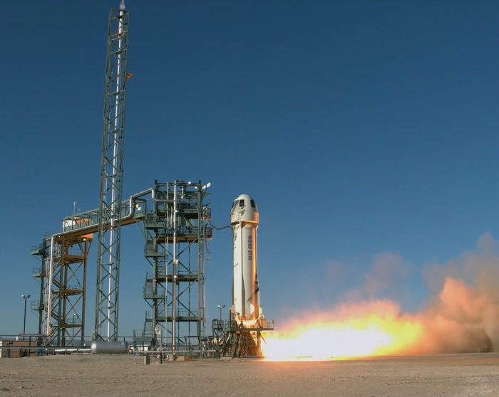 Blue Origin обновила рекорд многоразовой ступениNew Shepard Blue Origin, New Shepard, Ракета, Космос, Видео, Джефф Безос