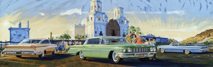 Джон Киллмастер — живой классик американской автомобильной иллюстрации Авто, История, Автоистория, США, Nickmix01, Длиннопост