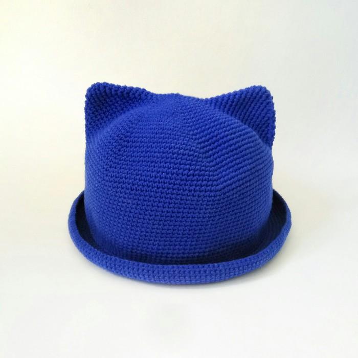 Шляпка с ушками Вязание крючком, Рукоделие без процесса, Вязание, Шляпа