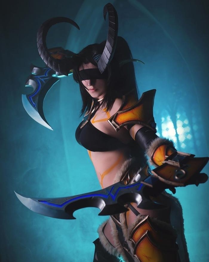 Heroes of the Storm - Demon Hunter Valeera cosplay Косплей, Hots, Valeera, Валера, Игры, Blizzard, Девушки, Длиннопост