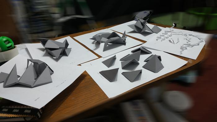 Лютоволк Старков из Игры Престолов на стену из бумаги Лютоволк, Low Poly, Papercraft, Pepakura, Длиннопост, Видео