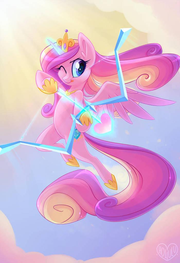 Вжжууухх! И ты женат. My Little Pony, Princess Cadance, Амур, Meekcheep