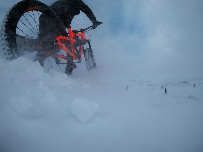 Как я в горах зимой выживал Велосипед, Экстрим, Даунхилл, Эндуро, Видео, Длиннопост