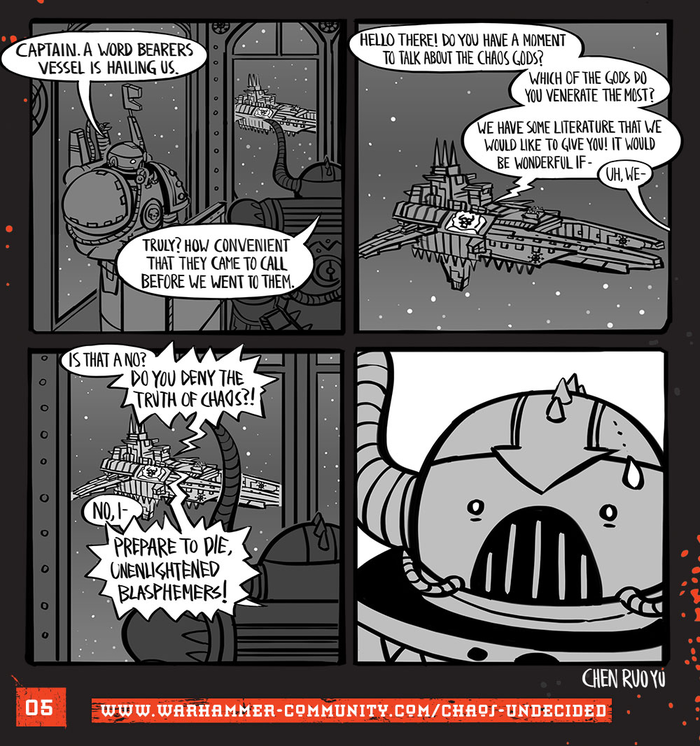 Хаос неопределённый #05 Warhammer 40k, Wh humor, Ruo Yu Chen, Комиксы, Chaos Space marines, Chaos-Undecided, Word bearers