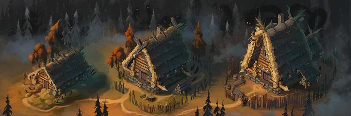 Night is coming - симулятор фэнтези поселения. Новые здания, и немного новостей. Разработка компьтерных игр, Компьютерные игры, Gamedev, Арт, Фэнтези, Видео, Гифка, Длиннопост