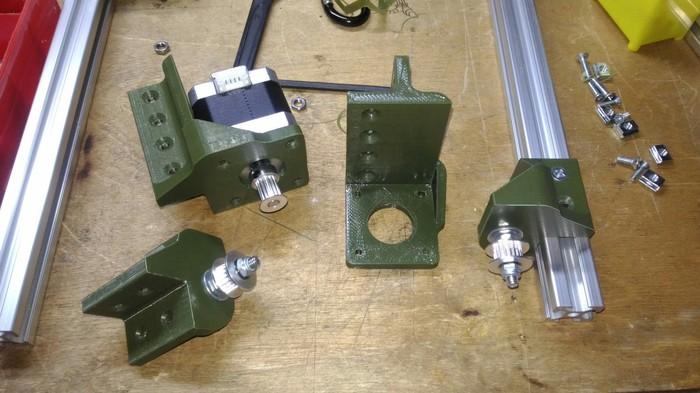 H-bot 3D принтер. #Часть 1. Сборка и тест кинематики. 3D печать, Своими руками, Видео, Длиннопост