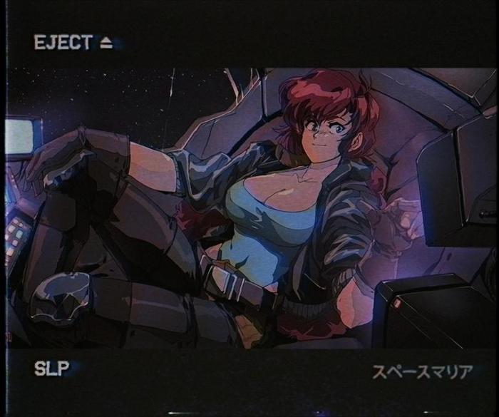 Space Maria by AngriangriD Ретро, Anime Art, Аниме, Original Character, Anime Original, Angryangryd, Space Maria, Длиннопост