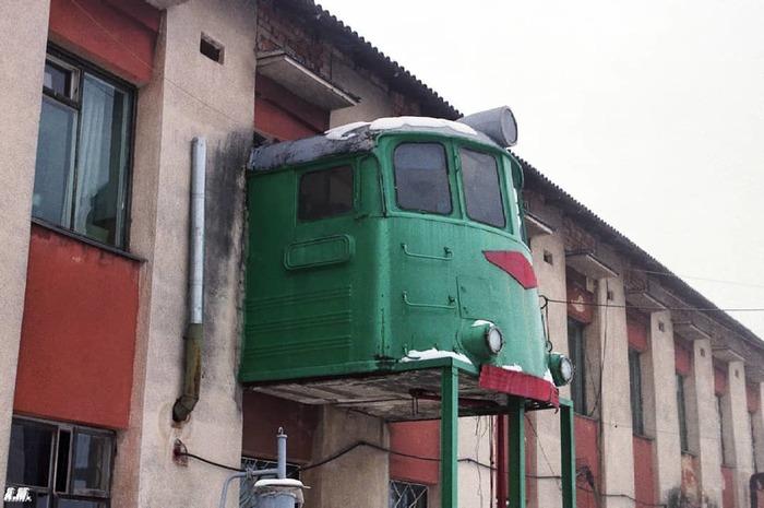 Балкон железнодорожника