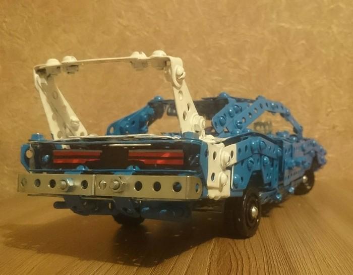 Dodge Charger Daytona 1969 из металлического конструктора,с рулевым управлением, амортизацией и автоматическим подъемом фар. Dodge, Авто, Масштабная модель, Ретро, Ретроавтомобиль, Muscle CAR, Модель, Моделизм