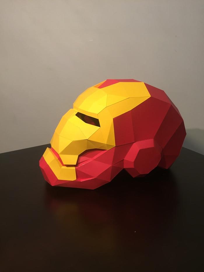 Шлем железного человека Papercraft, Железный человек, Длиннопост