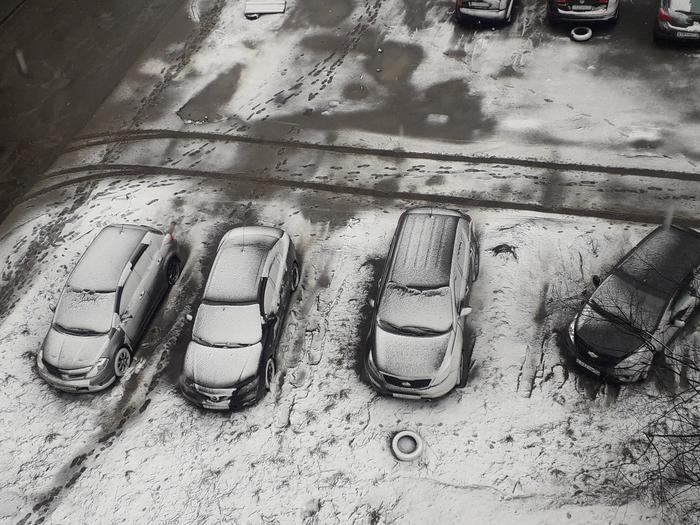 Фото из окна Фотография, Фото на тапок, Иллюзия, Авто, Снег, Мурманск