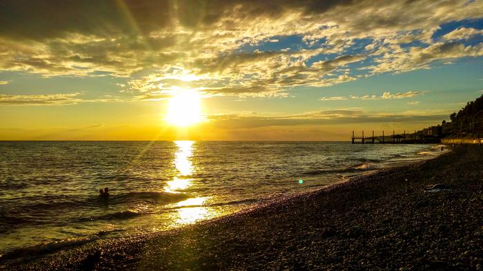 Просто красиво Закат, Сочи, Море, Фотография