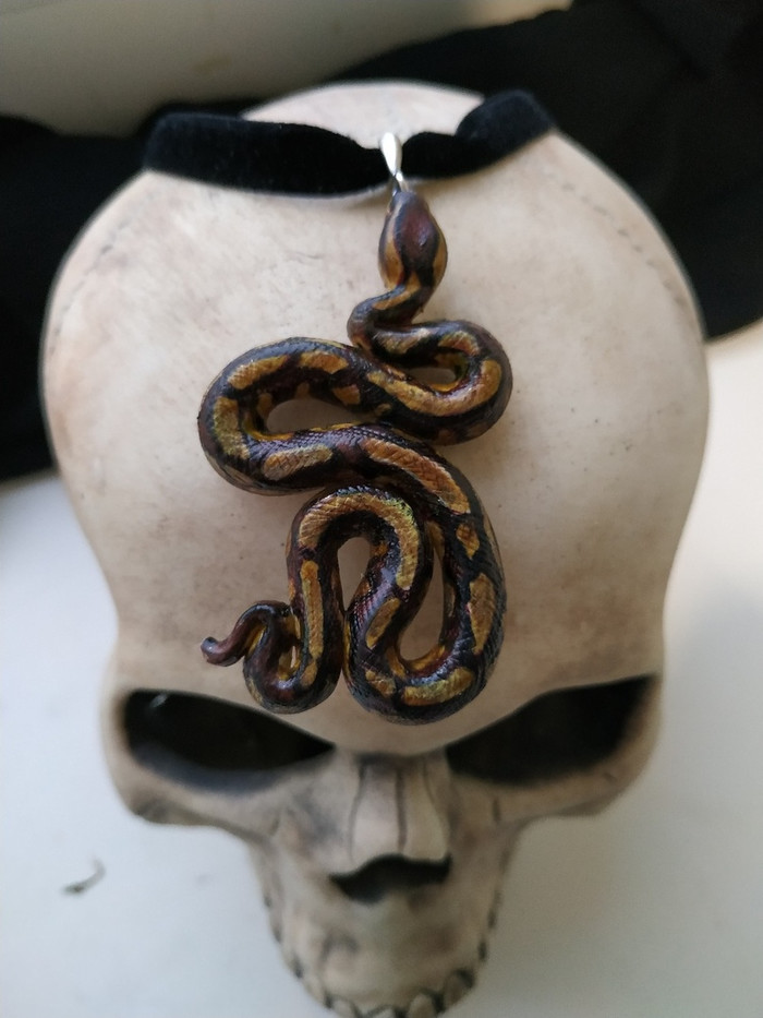 Змейка Кулон, Змейка, Рукоделие без процесса, Ручная работа, Длиннопост