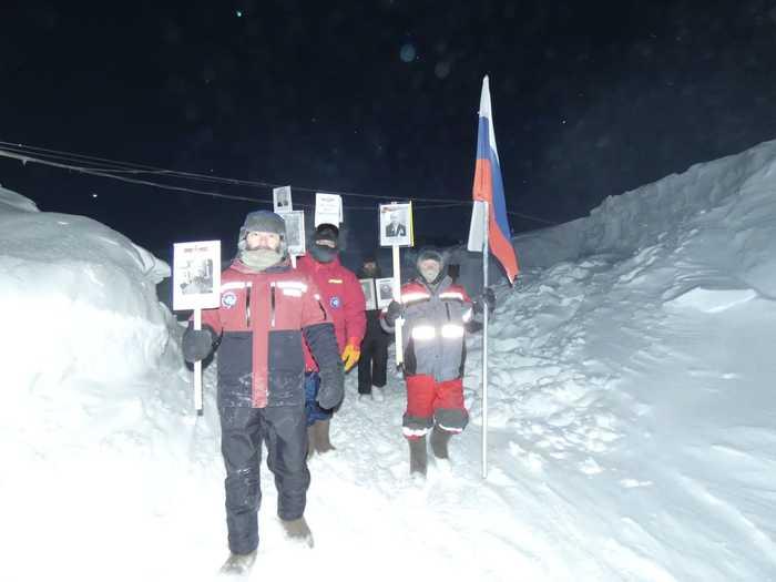Бессмертный полк на Южном полюсе! Антарктида, Станция Восток, Бессмертный полк, Холод, Длиннопост