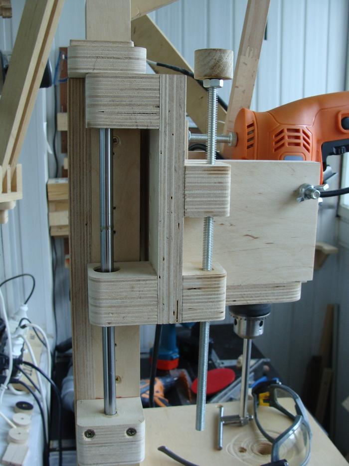 Оборудование мастерской на балконе (часть 1. Стойка для дрели+бонус) Станки из фанеры, Мастерская на балконе, Столярка, Длиннопост