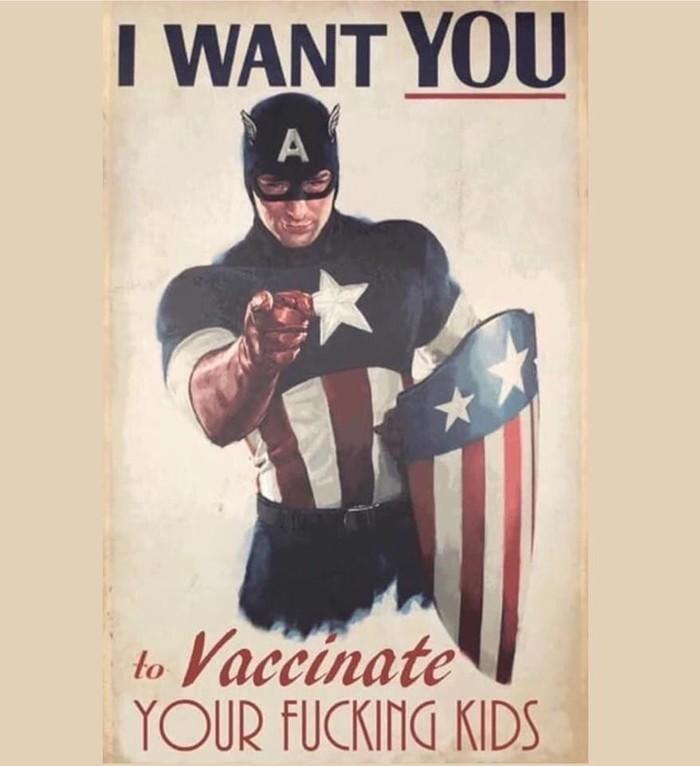 Капитан херню не скажет Капитан Америка, Отказ от вакцинации, Юмор