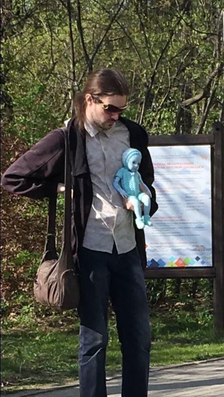 Недавно в Измайловском парке Инопланетяне, Парк, Москва, Измайловский парк, Кукла, Робот, Длиннопост