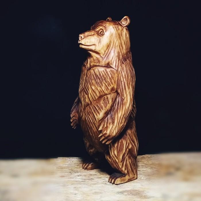 Медведь, материал липа, высота 17см. Резьба по дереву, Медведь