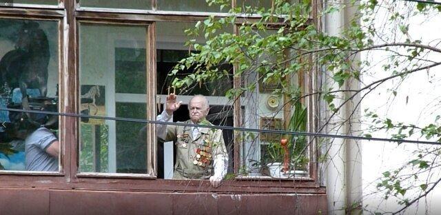 Парад Победы для ветеранов под окнами их квартир Парад Победы, Самара, Видео, Длиннопост, Ветеран Великой Отечественной, Забота
