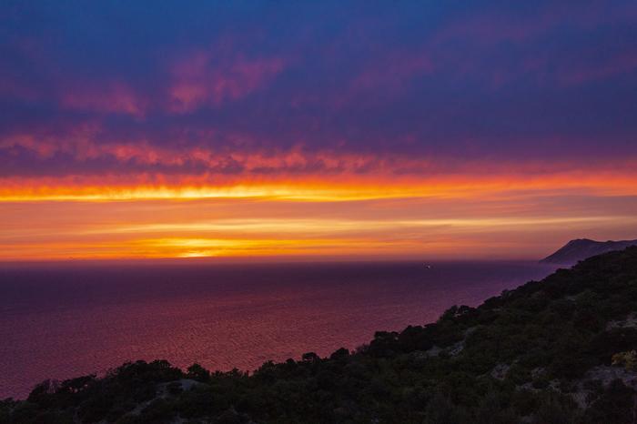 Закат над морем Начинающий фотограф, Закат, Большой утриш, Canon