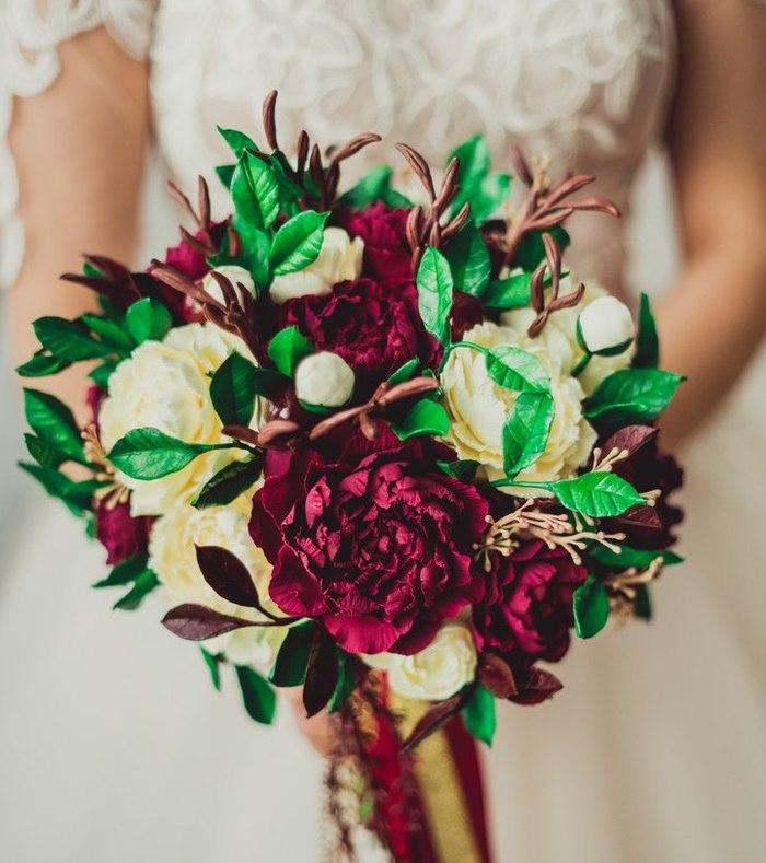 Свадебный букет ручной работы из полимерной глины Цветы, Творчество, Рукоделие без процесса, Невеста, Свадьба, Букет, Декор