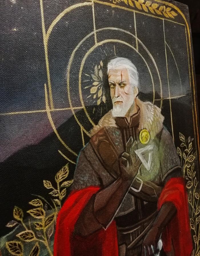 Геральт Ривский Геральт из Ривии, Ведьмак, Ведьмак 3, The Witcher 3:Wild Hunt, Арт, Фан-Арт, Акрил, Рисунок, Видео, Длиннопост