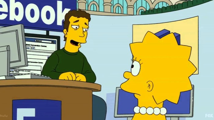 Симпсоны на каждый день [14_Мая] Симпсоны, Каждый день, Facebook, Марк Цукерберг