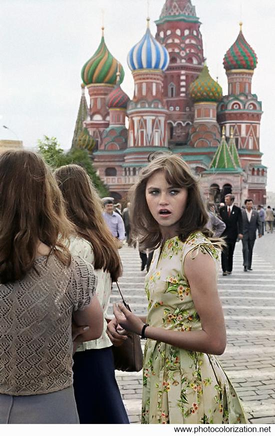 Моя колоризация Колоризация, Москва, 1980, Девушки, Красная площадь