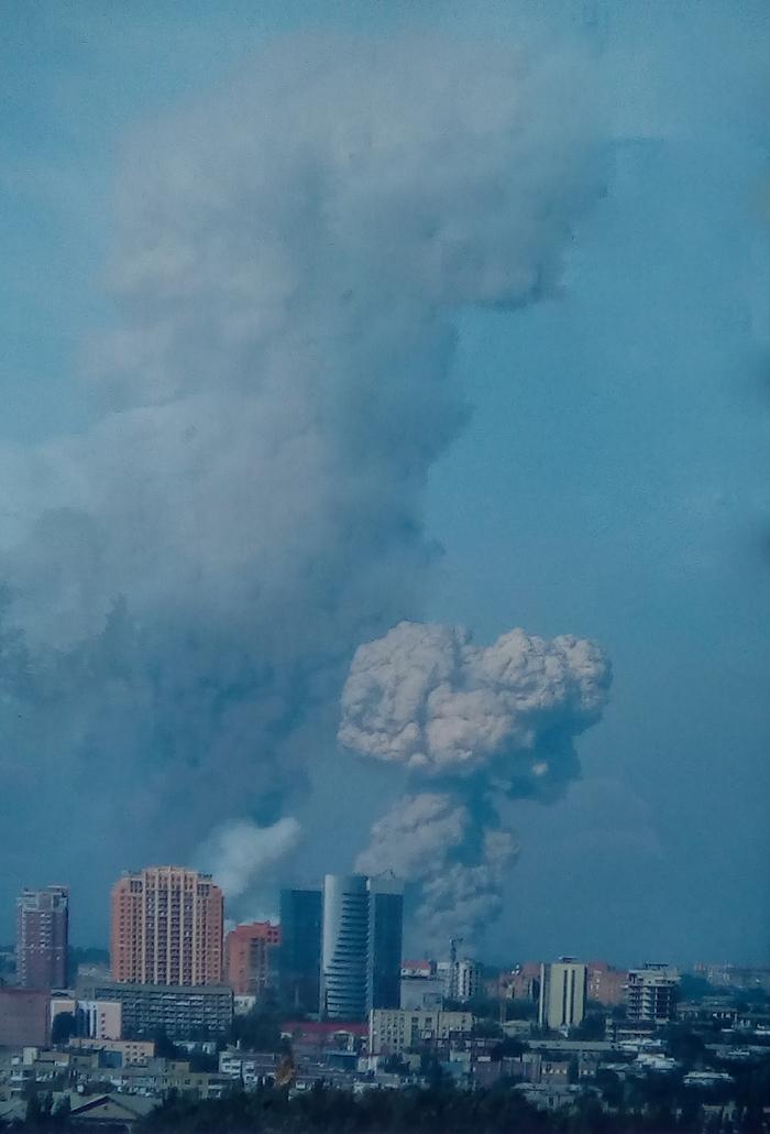 """Взрыв """"Точка-У"""" в Донецке. Август 2014 года"""