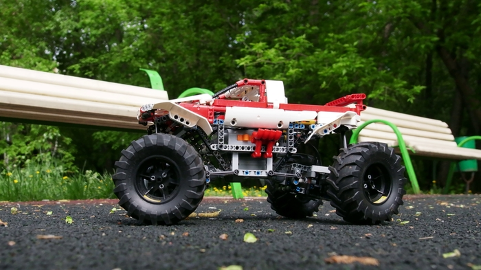 Лего Монстр трак версия 4 (самоделка) LEGO, LEGO technic, Видео, Длиннопост