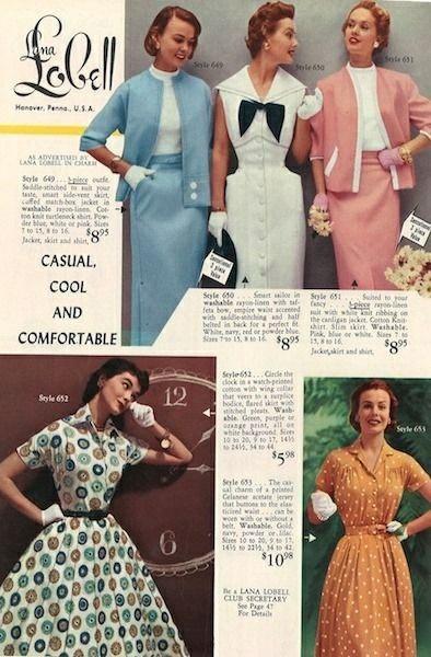 Мода 1950 Красивые платья, Мода, Винтаж, 50-е, Длиннопост
