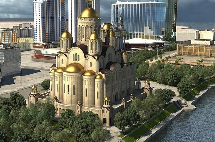 Как еще можно остановить строительство хама в Екатеринбурге Храм, Екатеринбург, Сквер, Мат, Негатив