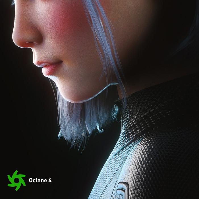 Трехмерная модель. Автор Dylan Kowalski Арт, 3D, Девушки, Наушники, Длиннопост, Dylan Kowalski