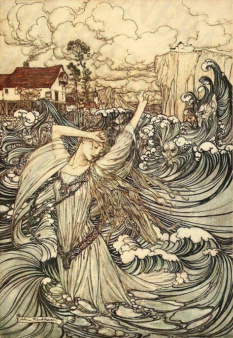 Артур Рэкхем - самый лучший книжный иллюстратор Англии. Иллюстрации, Артур Рэкхем, Арт, Длиннопост
