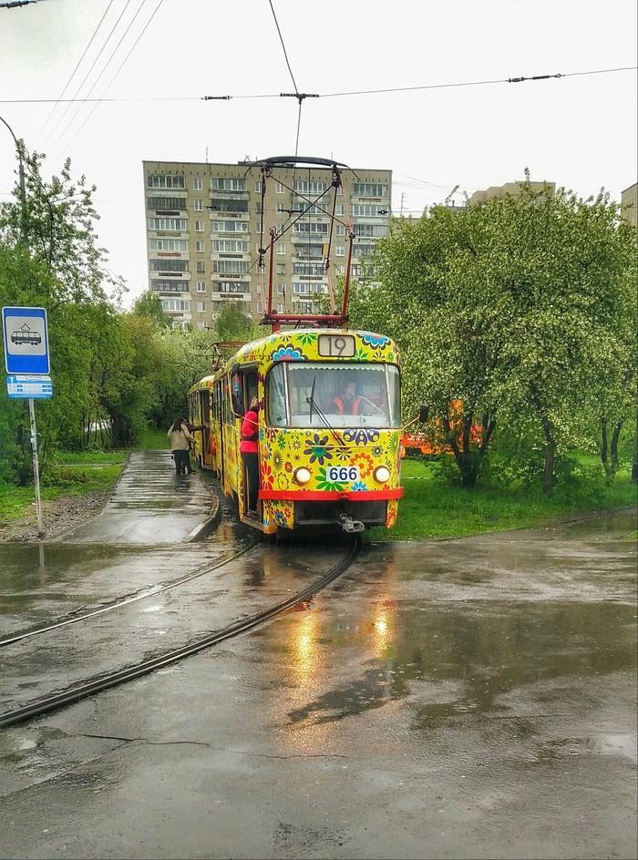 Трамвай 666 Трамвай, Екатеринбург, Мобильная фотография, 666, Городские пейзажи