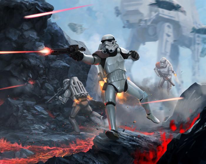 Jet Trooper Star Wars, Штурмовик, At-At, Арт